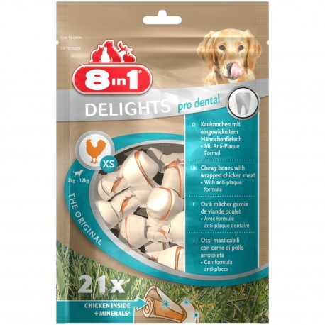 Przysmak 8in1 Dental Delights Bones XS 21 szt